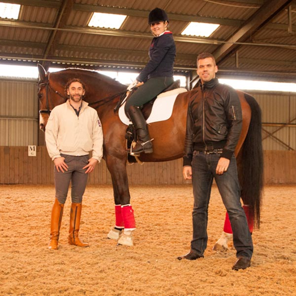 Nick Reeve with international dressage trainer and rider Robbie Carpenter